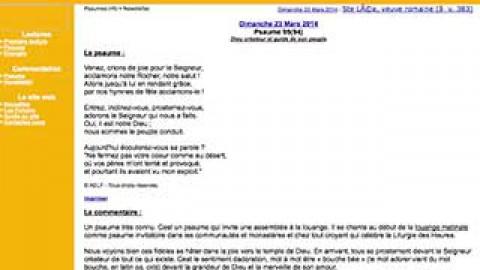 Site à connaître : www.psaumes.info