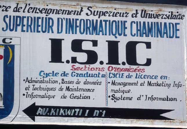 ISIC - L'Institut Supérieur d'Informatique Chaminade Kinshasa