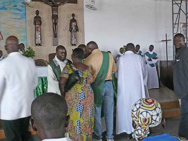 Père Sylvain Bamana de la communauté marianiste de Brazzaville
