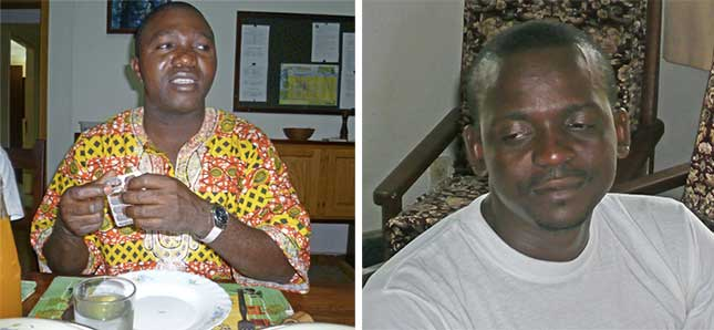 Innocent MAYUMA à gauche et Arnaud Massamba à droite, communauté marianiste de M'Pila au Congo