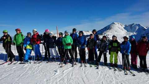 Les élèves de Saint Dié au ski