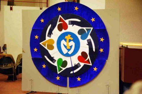 Logo de la rencontre européenne marianiste à Lourdes