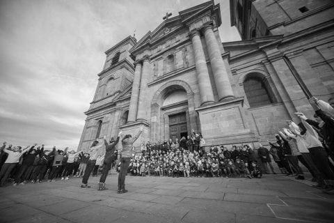 Flash-mob de Lourdes à Saint Dié !