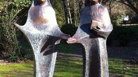 Bénédiction des statues des Fondateurs à Grand-Lebrun