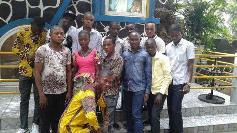 Récollection d'une fraternité marianiste à Kisenso