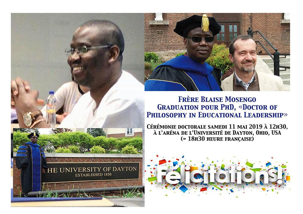 Frère Blaise Mosengo Graduation