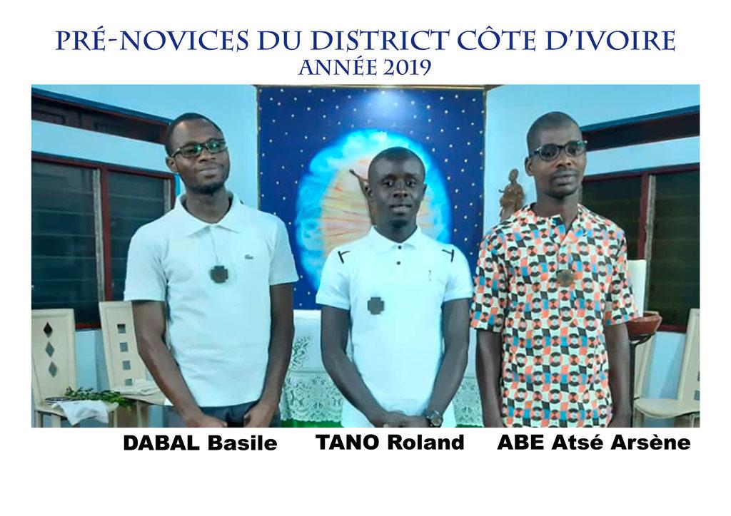Les pré-novices d'Abidjan